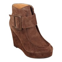 Nine West: Backtrack Suede Wedge Booties