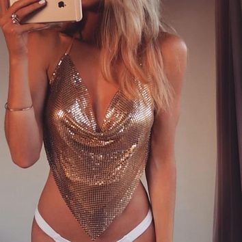 Luxury Women's Sequin Swimwear Bra Bathing Suit Bikini Tops Swimsuit Beachwear