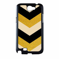 Chevron Classy Black And Gold Printed Samsung Galaxy Note 2 Case