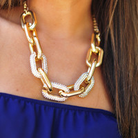 Pave Link Necklace: Gold                 | Hope's