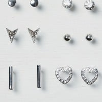 AEO Women's Geo And Stud Earring 6-pack (Silver)