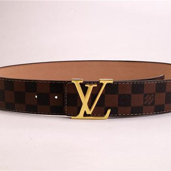 """LOUIS VUITTON"" Unisex Fashion Classic Multicolor  Metal Plate Buckle Belt"