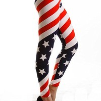 Country Love American Flag Leggings