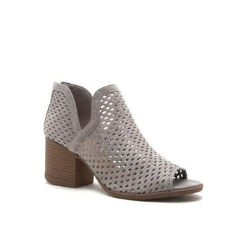 Women's Perforated Open Toed Booties