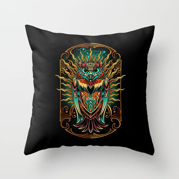 S'Owl Keeper Throw Pillow by Angoes25