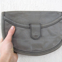 Vintage Leather purse, Vintage purse in grey leather, Women vintage purse #vintage#leather#purse#grey