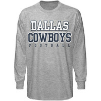 Men's Ash Dallas Cowboys Practice Long Sleeve T-shirt