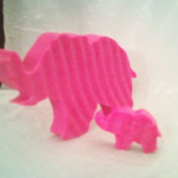 12 or 24 Sets of Pink Elephant, Blue Elephants Baby Shower or Birthday Party Favors, Teaching Children to Wash Their Hands