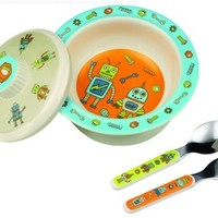 Sugarbooger Covered Bowl Gift Set, Retro Robot