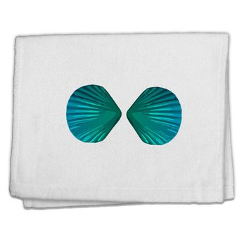 "Mermaid Shell Bra Blue 11""x18"" Dish Fingertip Towel by TooLoud"