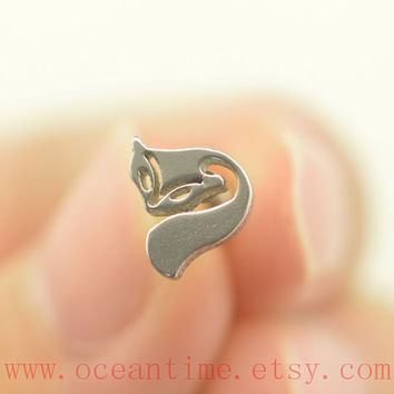 tragus earring,fox Tragus Earring,cartilage earring piercing jewelry,little fox Helix Cartilage ear jewelry,ceantime