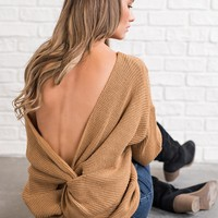 Cassidy Twist Back Sweater (Toffee)