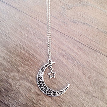 Large Crescent Star necklace