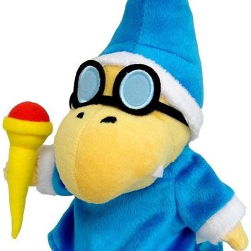 1 Pc NEW Kamek Magikoopa 7in Stuffed Plush Toy Super Mario Bros Figure Doll (Color: Blue)