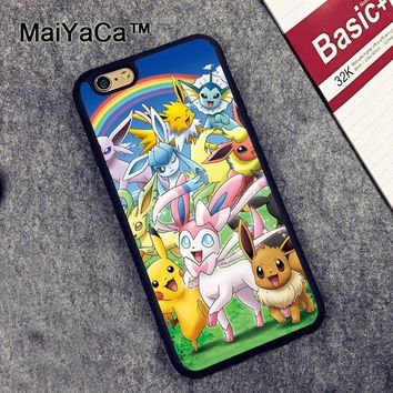MaiYaCa s Pocket Monsters Case for Apple iPhone 6S 6 TPU Case for iPhone 6 6s Soft Rubber Skin Back Covers shellKawaii Pokemon go  AT_89_9