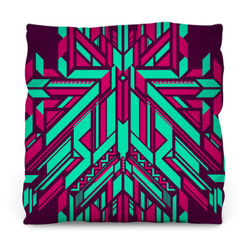 Fracto 6 Throw Pillow