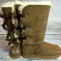 UGG BAILEY BOW TALL BOOTS IN CHESTNUT