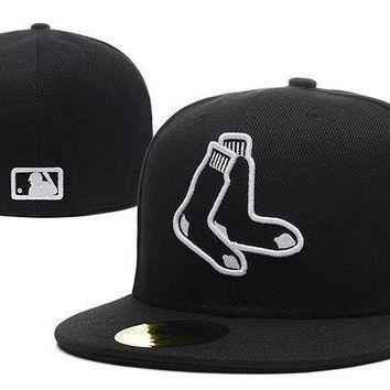 Boston Red Sox New Era Mlb Authentic Collection 59fifty Hat Black White