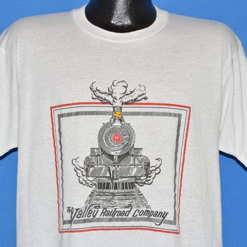 80s Valley Railroad Company Steam Engine t-shirt Large