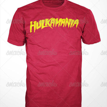 Hulkamania T-shirt - Hulk, Hogan, WWF, classic, retro, leg drop, Terry Gene, Bollea, NWO, Hollywood Hogan, wrestling, no holds barred
