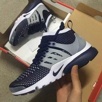 Nike Air Presto Flyknit Ultra Fashion Trending Casual Running Sneakers Sport Shoes Dark Blue G