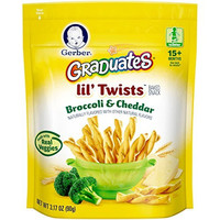 Gerber Graduates Lil Twists Crackers, Broccoli and Cheddar, 3.17 Ounce