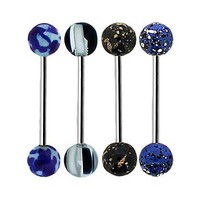 Splatter Bead Barbell 4 Pack - 14 Gauge - Spencer's