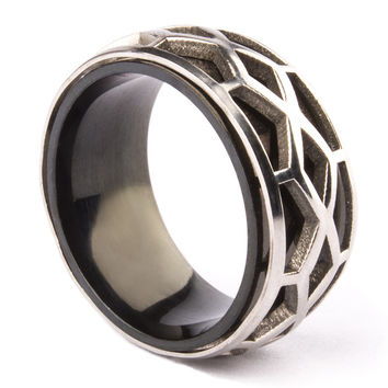 10 Free Shipping Wedding Rings Cool Punk Stainless Steel Cobweb Titanium Ring Personalized All-Match Thumb Women Men Jewelry
