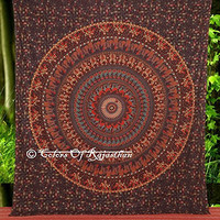 Handicrunch Hippie Elephant Tapestries Wall Hanging , Indian Mandala Tapestry Bedspread , Dorm Tapestry, Decorative Wall Hanging , Tapestries for Dorms