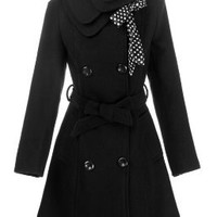 CHAREX® Women Wool Blends Coat Slim Trench Winter Coat Long Jacket Outwear