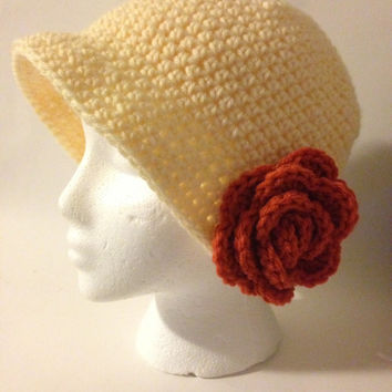 Retro Flapper Cloche Downtown Abbey Crochet Hat Pattern