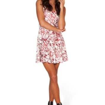 Blood Splatter Skater Dress (48HR) - LIMITED | Black Milk Clothing