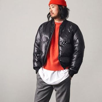 Duvet Down Bomber Jacket