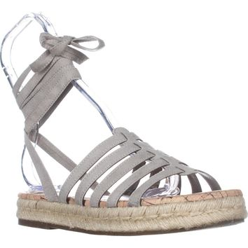 Circus Sam Edelman Ariel Tie Up Sandals, Greige, 6.5 US / 36.5 EU