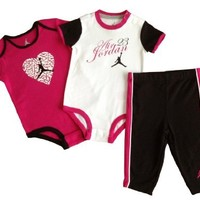 Nike Jordan Infant Baby Bodysuit & Pants Layette Set and Cellphone Anti-dust Plug