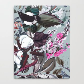 Floral and Birds XXIV Notebook by burcukorkmazyurek