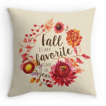 Fall is my Favorite Pillow Cover