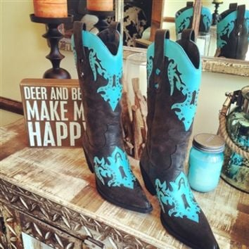 Southern Comfort Zone Boots - Turquoise