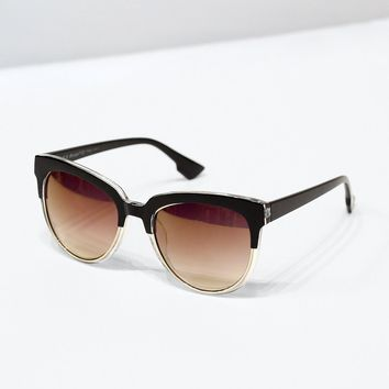 Two-Toned Reflective Sunglasses