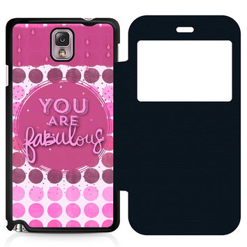 You Are Fabulous Flip Samsung Galaxy Note 3 Case
