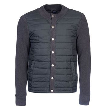 Bale Baffle Button Through Jacket in Charcoal by Barbour - FINAL SALE