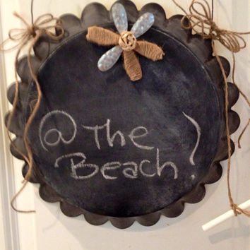 Memo board chalk board and magnetic by PVBPretties on Etsy