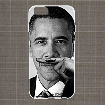 Obama Moustache iPhone 4/4S, 5/5S, 5C Series Hard Plastic Case