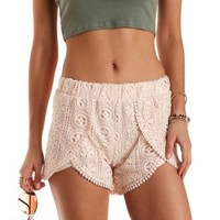 Crochet High-Waisted Tulip Shorts by Charlotte Russe