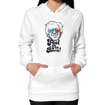 Bernie Sanders Pop Art Portrait  Hoodie (on woman)