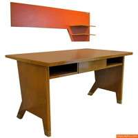Rare Gio Ponti Desk and Wall Shelf, Italian Modern - Objects20c