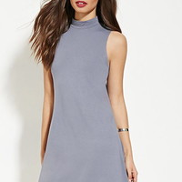 Mock-Neck Shift Dress