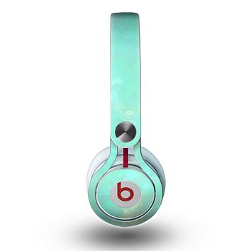 The Bright Teal WaterColor Panel Skin for the Beats by Dre Mixr Headphones