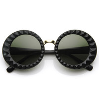 Designer Inspired Fashion Round Circle Womens Sunglasses 8772