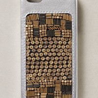 Geo-Sequined iPhone 5 Case by Jasper & Jeera Silver One Size Jewelry